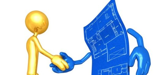 Gold Guy With Home Construction Blueprint