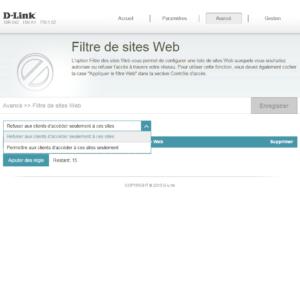 Filtre Web