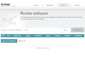 Routes IPV6